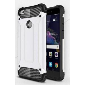 Двухкомпонентный силиконовый матовый непрозрачный чехол с поликарбонатными бампером и крышкой для Huawei Honor 8 Lite