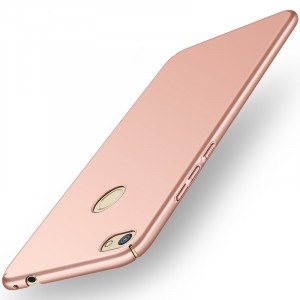 Пластиковый непрозрачный матовый нескользящий премиум чехол с улучшенной защитой элементов корпуса для Huawei Honor 8 Lite Розовый