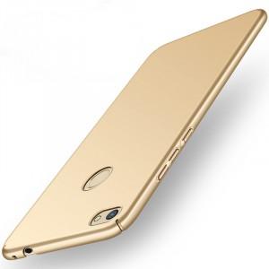 Пластиковый непрозрачный матовый нескользящий премиум чехол с улучшенной защитой элементов корпуса для Huawei Honor 8 Lite Бежевый