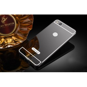 Двухкомпонентный чехол c металлическим бампером с поликарбонатной накладкой и зеркальным покрытием для Huawei Honor 8 Lite