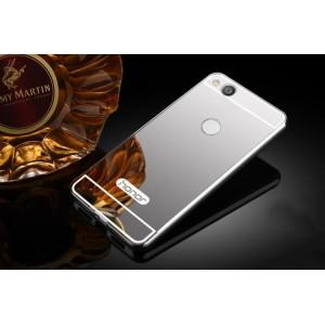 Двухкомпонентный чехол c металлическим бампером с поликарбонатной накладкой и зеркальным покрытием для Huawei Honor 8 Lite Белый