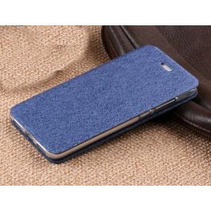 Чехол горизонтальная книжка подставка текстура Узоры на силиконовой основе для Huawei Honor 8 Lite Синий