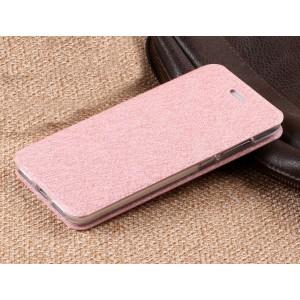 Чехол горизонтальная книжка подставка текстура Узоры на силиконовой основе для Huawei Honor 8 Lite Розовый