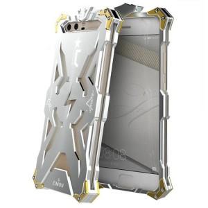 Цельнометаллический противоударный чехол из авиационного алюминия на винтах с мягкой внутренней защитной прослойкой для гаджета с прямым доступом к разъемам для Huawei P10 Plus