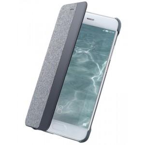Оригинальный чехол горизонтальная книжка на пластиковой основе с окном вызова и тканевым покрытием для Huawei P10 Plus