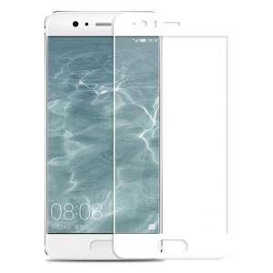 Полноэкранное ультратонкое износоустойчивое сколостойкое олеофобное защитное стекло-пленка для Huawei P10 Plus Белый