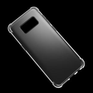 Силиконовый глянцевый полупрозрачный чехол с усиленными углами для Samsung Galaxy S8 Белый