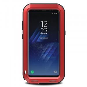 Эксклюзивный многомодульный ультрапротекторный пылевлагозащищенный ударостойкий нескользящий чехол алюминиево-цинковый сплав/силиконовый полимер для Samsung Galaxy S8