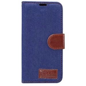 Чехол горизонтальная книжка подставка на силиконовой основе с отсеком для карт и тканевым покрытием на магнитной защелке для Samsung Galaxy S8 Синий