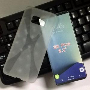 Силиконовый матовый полупрозрачный чехол с дизайнерской текстурой X для Samsung Galaxy S8 Plus