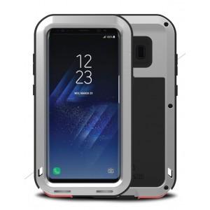 Эксклюзивный многомодульный ультрапротекторный пылевлагозащищенный ударостойкий нескользящий чехол алюминиево-цинковый сплав/силиконовый полимер для Samsung Galaxy S8 Plus