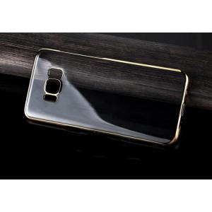 Силиконовый глянцевый полупрозрачный чехол Металлик для Samsung Galaxy S8 Plus