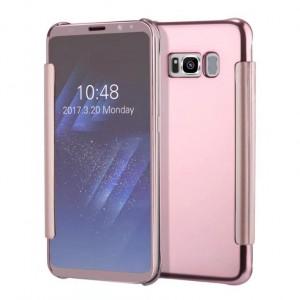 Пластиковый непрозрачный матовый чехол с полупрозрачной крышкой с зеркальным покрытием для Samsung Galaxy S8 Plus