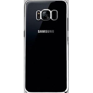 Силиконовый глянцевый полупрозрачный чехол Металлик для Samsung Galaxy S8  Белый