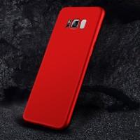 Силиконовый матовый непрозрачный чехол с нескользящим софт-тач покрытием для Samsung Galaxy S8 Красный