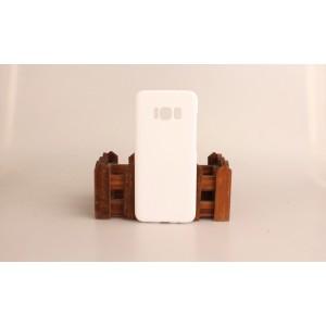 Пластиковый непрозрачный матовый чехол для Samsung Galaxy S8 Белый
