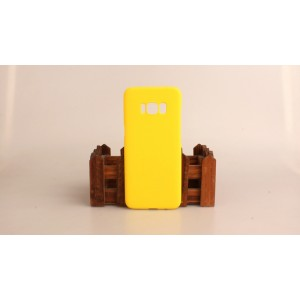 Пластиковый непрозрачный матовый чехол для Samsung Galaxy S8 Желтый