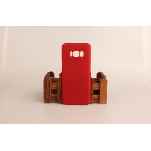 Пластиковый непрозрачный матовый чехол для Samsung Galaxy S8 Красный
