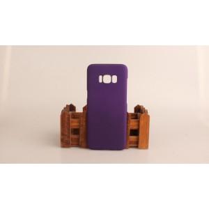 Пластиковый непрозрачный матовый чехол для Samsung Galaxy S8 Фиолетовый