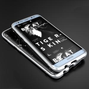 Металлический округлый премиум бампер сборного типа на винтах для Samsung Galaxy S8 Белый