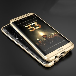 Металлический округлый премиум бампер сборного типа на винтах для Samsung Galaxy S8
