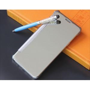 Пластиковый непрозрачный матовый чехол с полупрозрачной крышкой с зеркальным покрытием для Samsung Galaxy S8