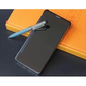 Пластиковый непрозрачный матовый чехол с полупрозрачной крышкой с зеркальным покрытием для Samsung Galaxy S8 Черный