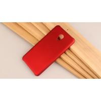 Пластиковый непрозрачный матовый чехол для Meizu M5 Красный