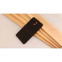 Пластиковый непрозрачный матовый чехол для Meizu M5 Черный