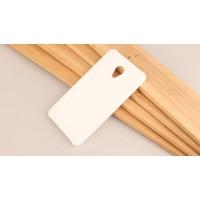Пластиковый непрозрачный матовый чехол для Meizu M5 Белый