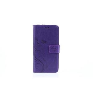 Чехол портмоне подставка текстура Цветы на силиконовой основе с отсеком для карт на магнитной защелке для Huawei Honor 8 Lite  Фиолетовый