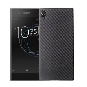 Силиконовый матовый непрозрачный чехол с нескользящими гранями и нескользящим софт-тач покрытием для Sony Xperia XA1