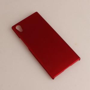 Пластиковый непрозрачный матовый чехол для Sony Xperia XA1 Бордовый