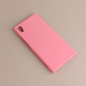 Пластиковый непрозрачный матовый чехол для Sony Xperia XA1 Розовый