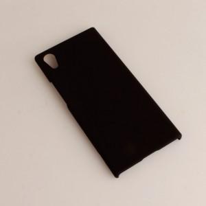 Пластиковый непрозрачный матовый чехол для Sony Xperia XA1 Черный