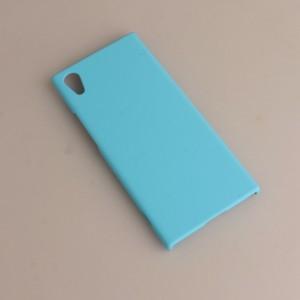Пластиковый непрозрачный матовый чехол для Sony Xperia XA1 Голубой