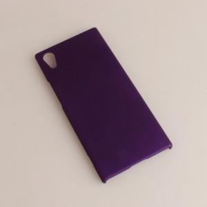 Пластиковый непрозрачный матовый чехол для Sony Xperia XA1 Фиолетовый