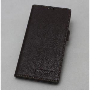 Кожаный чехол горизонтальная книжка подставка с крепежной застежкой для Sony Xperia XA1
