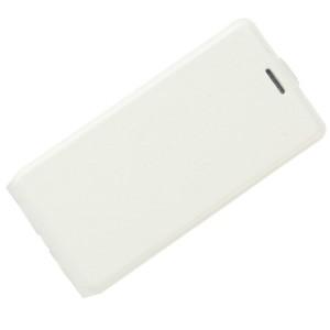 Чехол вертикальная книжка на силиконовой основе с отсеком для карт на магнитной защелке для Huawei Honor 8 Lite Белый