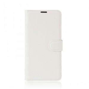 Чехол портмоне подставка на силиконовой основе с отсеком для карт на магнитной защелке для Doogee Shoot 1  Белый