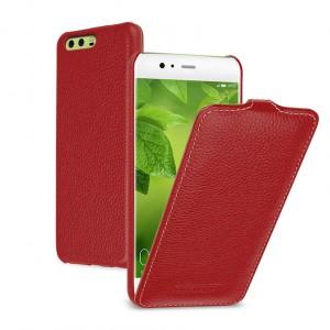 Кожаный чехол вертикальная книжка (премиум нат. кожа) для Huawei P10