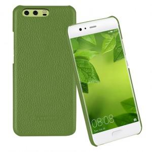 Кожаный чехол накладка (премиум нат. кожа) для Huawei P10