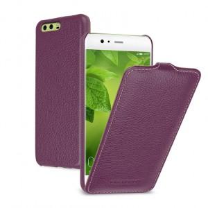 Кожаный чехол вертикальная книжка (премиум нат. кожа) для Huawei P10 Plus
