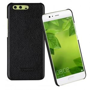 Кожаный чехол накладка (премиум нат. кожа) для Huawei P10 Plus