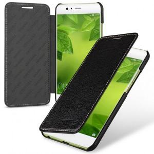 Кожаный чехол горизонтальная книжка (премиум нат. кожа) для Huawei P10 Plus