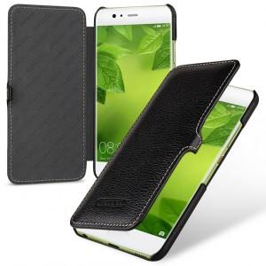 Кожаный чехол горизонтальная книжка (премиум нат. кожа) с крепежной застежкой для Huawei P10 Plus