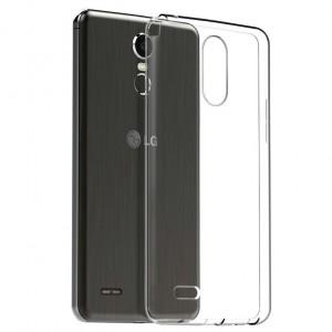 Силиконовый глянцевый транспарентный чехол для LG Stylus 3