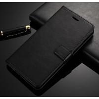 Чехол портмоне подставка на силиконовой основе с отсеком для карт на магнитной защелке для ZTE Nubia Z11 Max
