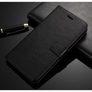 Чехол портмоне подставка на силиконовой основе с отсеком для карт на магнитной защелке для ZTE Nubia Z11 Max  Черный