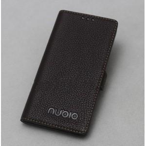 Кожаный чехол горизонтальная книжка подставка с крепежной застежкой для ZTE Nubia Z11 Max